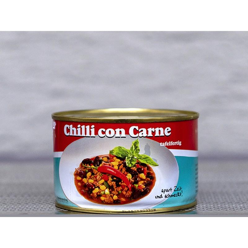 Herzhaftes Chilli con Carne Tafelfertig in der Dose.