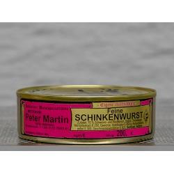 Feine Schinkenwurst in der 200g Dose aus Schweine- und Rindfleisch.
